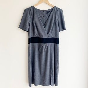 Club Monaco Grey Fitted Snap Back Dress